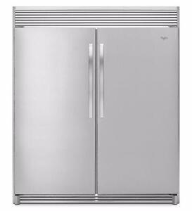 Combo réfrigérateur/congélateur côte-à-côte, inox, Whirlpool