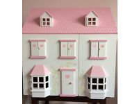 Beautiful pink & white dolls house