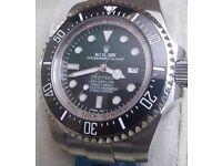 *PREMIUM* Green/black Deepsea Seadweller Rolex with Box&Papers