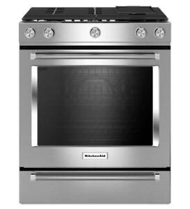KitchenAid KSGB900ESS 30-Inch 5 Burner Gas Convection Range with Baking Drawer (BD-1971)