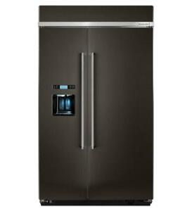 Kitchen aid KBSD608EBS 29.5 cu. ft 48-Inch Width Built-In Side by Side Refrigerator with PrintShield Finish