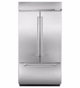 Réfrigérateur encastré à portes françaises 42 po de KitchenAid, Stainless