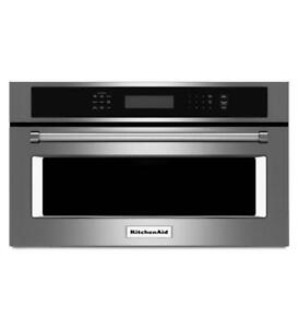 Micro-ondes encastrable KitchenAid 30 po, Convection, Stainless, Showroom