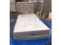 Single bed base with headboard