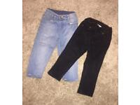 2 pairs of baby boys skinny jeans from H&M. 9/12 mths £5 for both