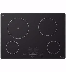 Surface de cuisson à induction de 30'' en Vitro céramique, noire, Whirlpool