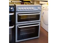 Graphite Hotpoint Creda 60cm Ceramic Cooker, Double Oven/Grill ( Fan Assisted) - 6 Months Warranty