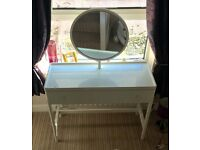 White high gloss IKEA dressing table