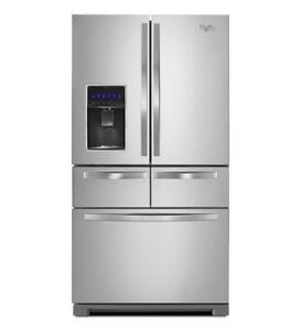 Double Drawer Refrigerator with Dual Icemakers 26 cu. ft|Whirlpool WRV986FDEM French Door Refrigerators (BD-941)