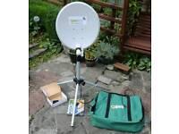 Portable satellite receiver, caravan/motorhome!
