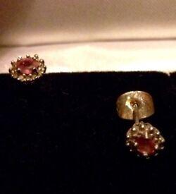 Silver & saphire earrings