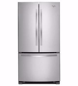 Réfrigérateur 22 pi cu, 33'' de Whirlpool avec éclairage DEL – Stainless