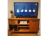 Retro Oak Sideboard/TV Cabinet - Hairpin Legs - Drawers/Cupboard/Shelves - Heavy/Scandi/Wooden