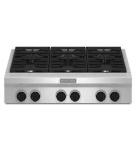 "KITCHENAID  KGCU467VSS 36"" 6 BURNERS GAS COOKTOP (BD-1503)"
