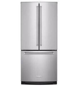 KitchenAid Refrigerator with French doors, Stainless