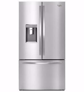 Réfrigérateur portes françaises Whirlpool 36'', Congélateur en bas