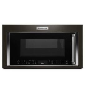 KitchenAid YKMHC319EBS 1000-Watt Convection Microwave Hood Combination (BD-1977)