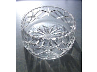 ** NEW ** in original box vintage Bohemia Czechoslovakia hand cut lead crystal bowl/dish. £18 ovno.
