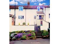 North Yorkshire village - 3 bedroom, 2 reception terraced house in good order - scenic outlooks