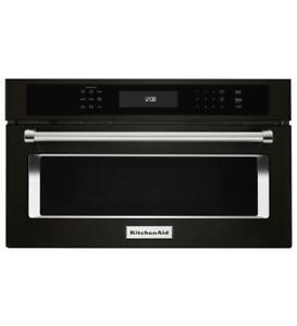 "KITCHENAID NEW KMBP107EBS 27"" BUILT IN MICROWAVE CONVECTION OVEN  (BD-1532)"