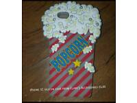 Iphone 5c popcorn silicon case