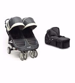 Baby Jogger City Mini Double Stroller & Carrycot (Black)