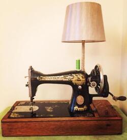 Newly Reburbished Singer Sewing Machine Lamp