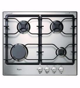 Plaque de cuisson au gaz 24'', Stainless, 4 brûleurs, Whirlpool