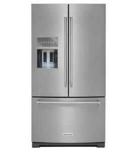 36'' Stainless Fridge, French doors, KitchenAid, Showroom