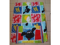 Timmy Time Single Quilt Cover & Pillow Case & fitted sheet (Shaun The Sheep) Collect Horndean