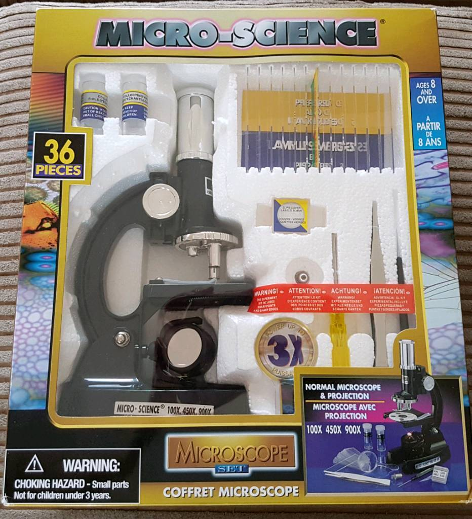 NEW IN BOX CHILDS MICROSCOPE SET