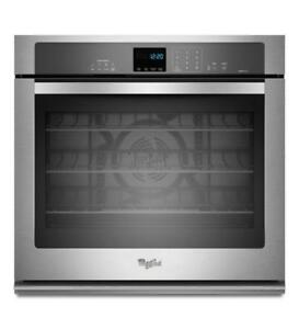 4.3 cu. ft. Single Wall Oven with True Convection Cooking|Whirlpool WOS92EC7AS Single Wall Oven (BD-989)
