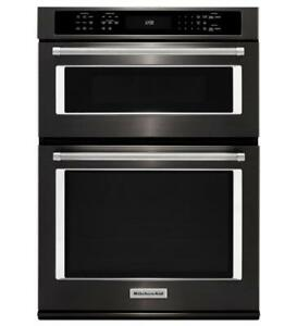 KitchenAid® KOCE507EBS 27 Combination Wall Oven with Even-Heat True Convection (lower oven)-Brand New(MP_177)