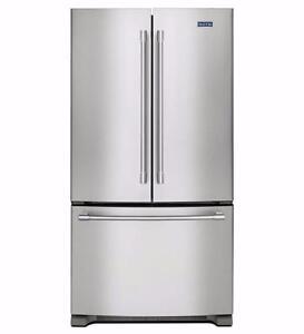 Réfrigérateur en acier inox 36'', portes françaises, profondeur comptoir, Maytag