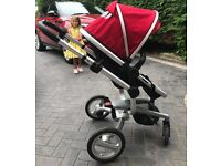 BARGAIN!!! Silvercross silver surf pram/stroller comb. Includes many extra accessories