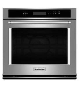 "KitchenAid KOSE500ESS  30"" Single Wall Oven with True Convection (BD-1985)"