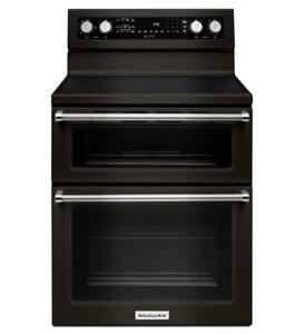 """ KitchenAid  YKFED500EBS Black 3Dch 5ble Oven Convection Range"" (BD-1965)"