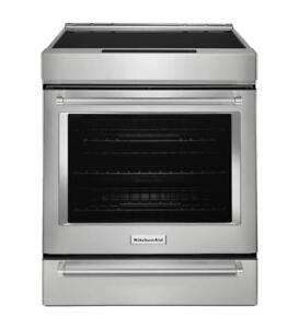 KitchenAid KSIB900ESS 30-Inch 4-Element Induction Convection Range with Baking Drawer (BD-1973)