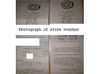 CEX Shop Voucher Value £126