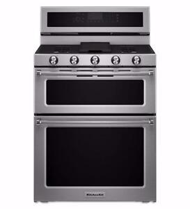 Cuisinière bi-énergie 30'', Double four [KitchenAid]