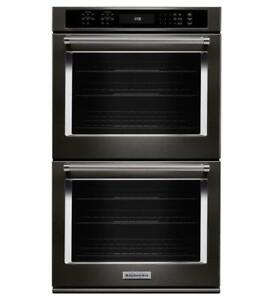 "KITCHENAID NEW KODE507EBS 27"" DOUBLE CONVECTION SELF CLEAN OVEN  DOUBLE WALL OVEN (BD-1547)"