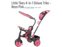 Little tikes 4-in-1 deluxe trike - neon pink £40