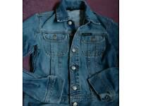 Vintage DKNY Women's Denim Jacket/Biker Jacket