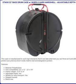 """22"""" Stagg bass drum case"""