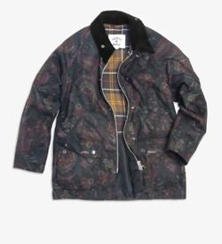 BARBOUR X NOAH Paisley Bedale Waxed Cotton Jacket Large- BNWT - Sold Out!!