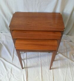 Retro Teak Nest of Tables - Gillespie & Woodside, Belfast