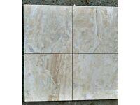 BEAUTIFUL FIORDO MATT CERAMIC FLOOR TILES WITH MARBLE SWIRLS 33x33cm-15m² Joblot