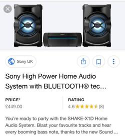 Sony home surround sound system