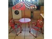 Disneys cars outdoor table and chairs set