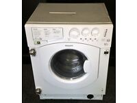 HOTPOINT USED BUILT-IN WASHING MACHINE + FREE BH ONLY POSTCODES DELIVERY & 3 MONTHS GUARANTEE
